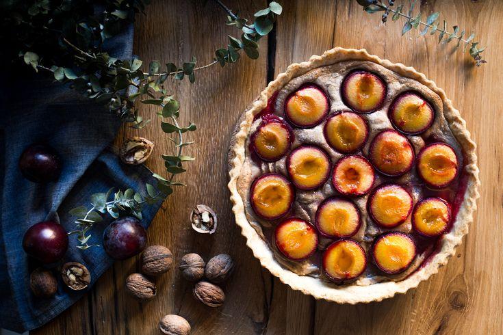 tarta cu prune si crema de nuci - mazilique