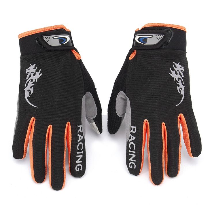 Men Women Nylon Silica Gel Driving Gloves Full Fingers Thick Skidproof Outdoor Cycling Mittens