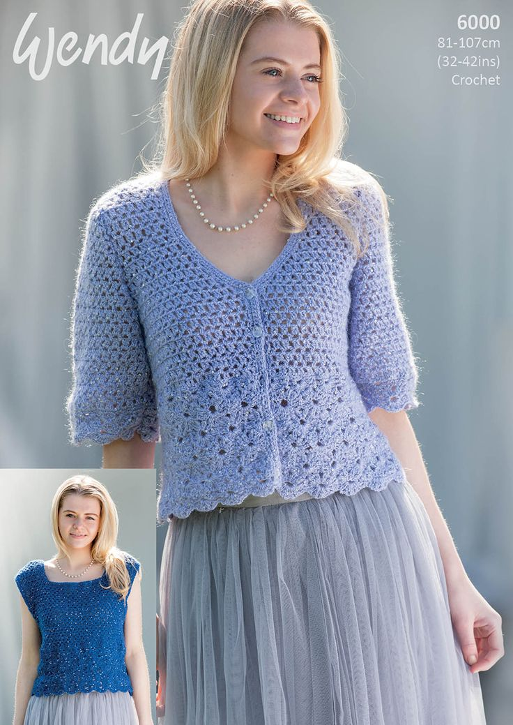 Wendy Celeste DK CROCHET Leaflet 6000 http://www.tbramsden.co.uk/catalog/patterns/womens/6000