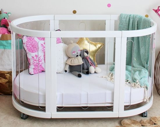 Kaylula - White Sova Clear 5 in 1 Cot