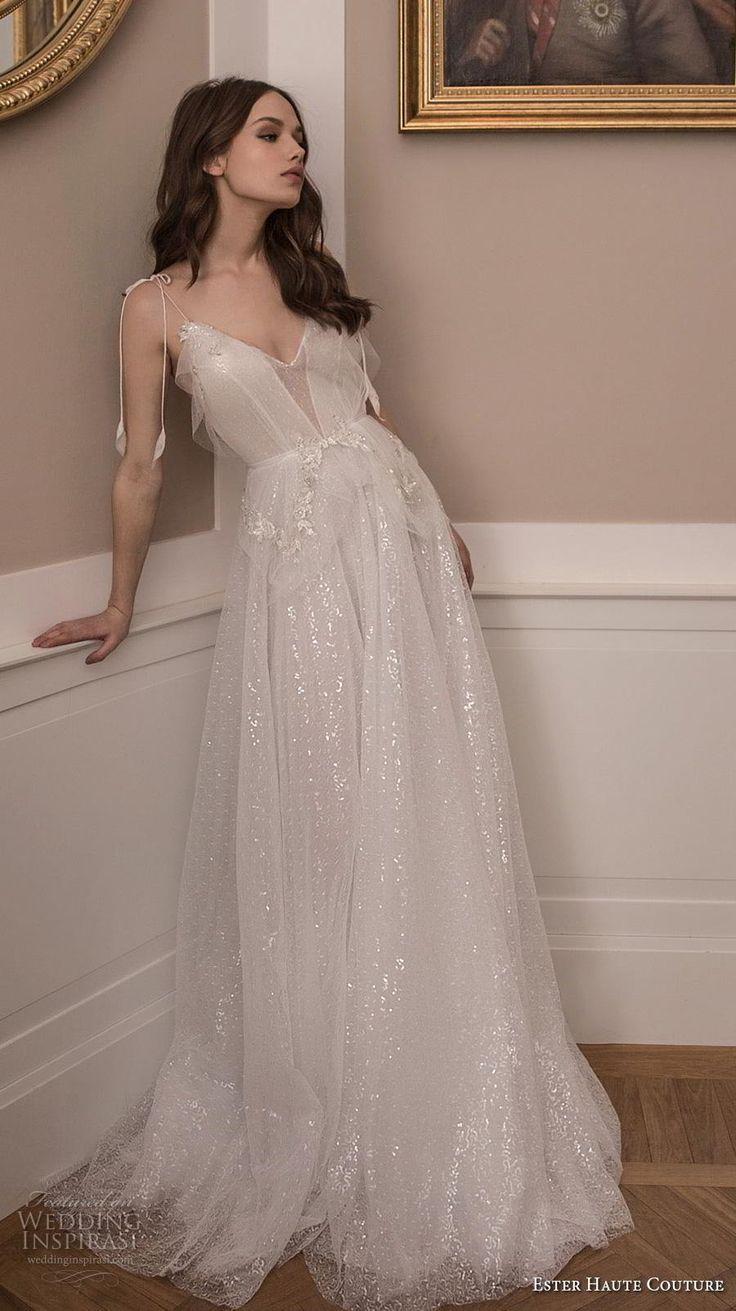 Weddinginspirasi.com featuring – ester haute couture 2019 bridal sleeveless spag…