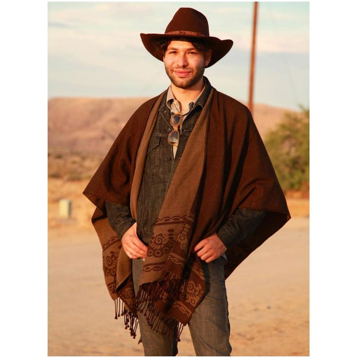 Pix For > Western Mens Poncho | Native American and ...