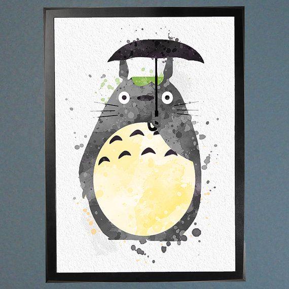 Mon voisin Totoro aquarelle Fine Art Print par WatercolorFontaine