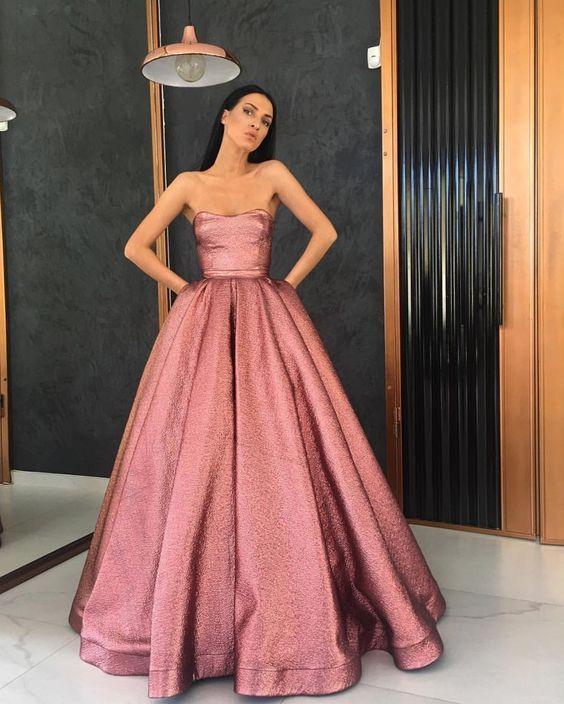 0bda9248a5e4 Pink Ball Gown Beading Prom Dress,Long Prom Dresses,Charming Prom Dresses,Evening  Dress, Prom Gowns, Formal Women Dress,prom dress