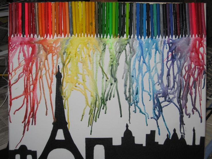 does melted crayon artwork on paper Here's all the info you need on how to create the perfect melted crayon art.