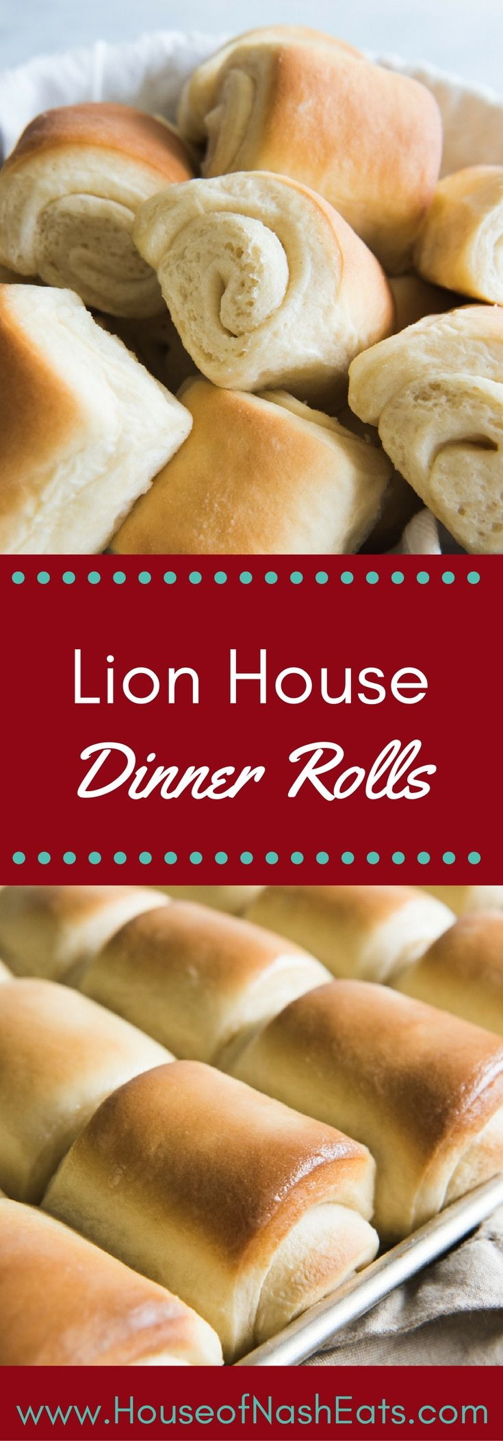 Every Thanksgiving, Christmas, and Easter, these soft, buttery, homemade Lion House Dinner Rolls grace our table. Of all the roll recipes I have tried (and loved), these are the ones that get made most often at our house, and for good reason. They really are the best! #dinnerrolls #thanksgiving #christmas #easter #rolls #bread