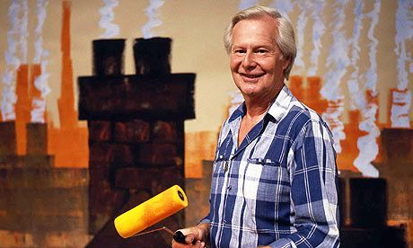 Take Hart with Tony Hart, the master of turning small strokes into an amazing picture, either on paper or a beach