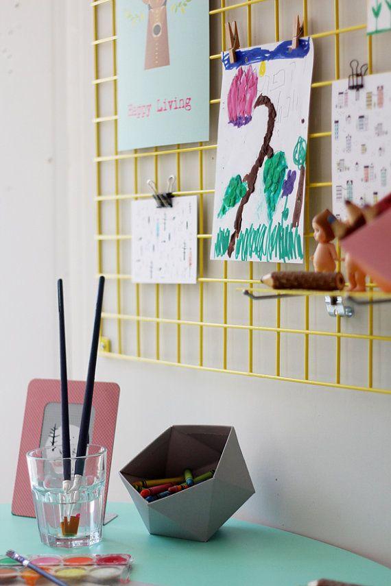 52 best wall hanging images on pinterest bedrooms bedroom ideas yellow wire wall organizer iron mesh by tweelingenhomedecor solutioingenieria Gallery