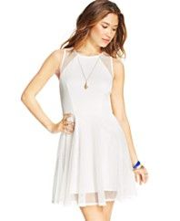 2 in 1 white dress for juniors