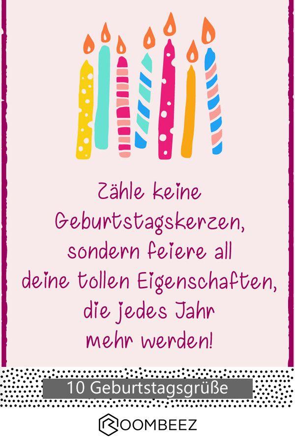 Geburtstagsspruche 10 Kostenlose Geburtstagskarten