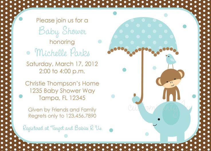 10 best amazing boy baby shower invitations easy images on pinterest baby shower invitations polka dot elephant boys baby shower invitations amazing boy baby shower filmwisefo