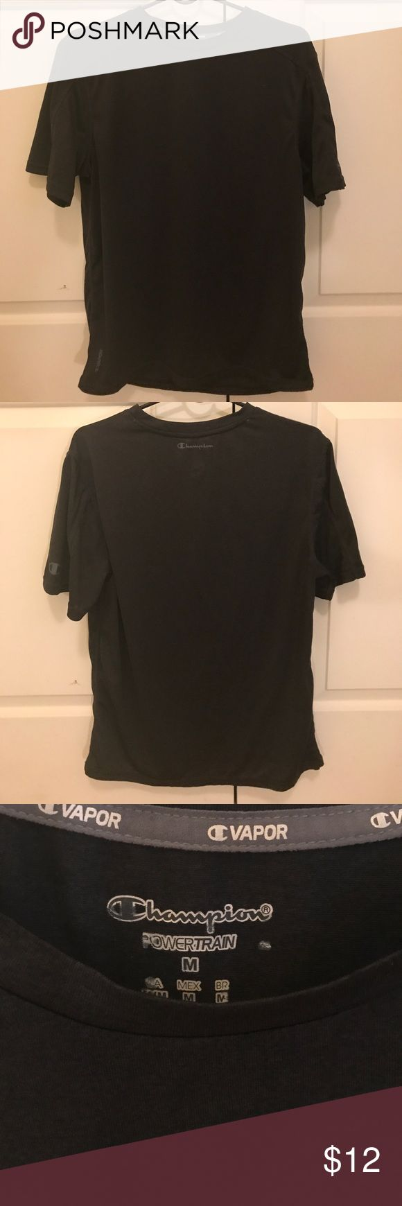 NEW LISTING Champion Men's Workout Shirt A black, men's workout shirt in a size medium. Like new condition! Worn once! Champion Shirts Tees - Short Sleeve