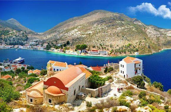 Kastelorizo, blue seas and skies, Greece