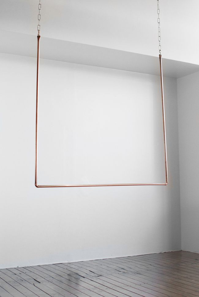 iu0027ll hang it here copper hanging clothes rack