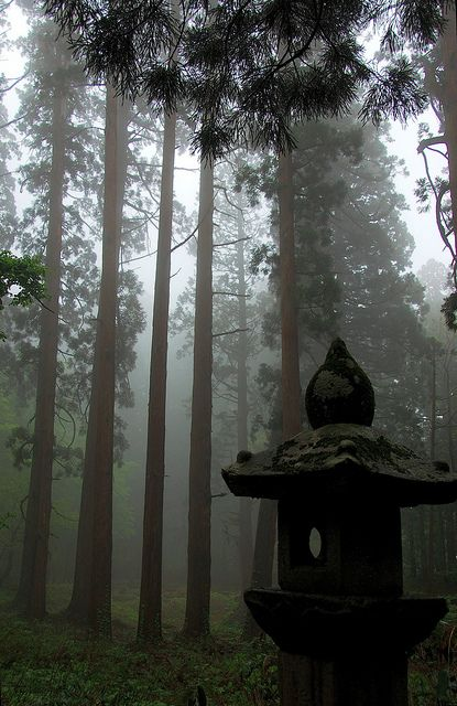 Yamagata, Japan-one of my favourite places,Temple in the mist, I named it