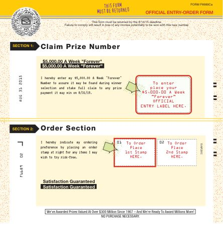 about com sweepstakes one entry winning number notification plan entry order form my pch 2518