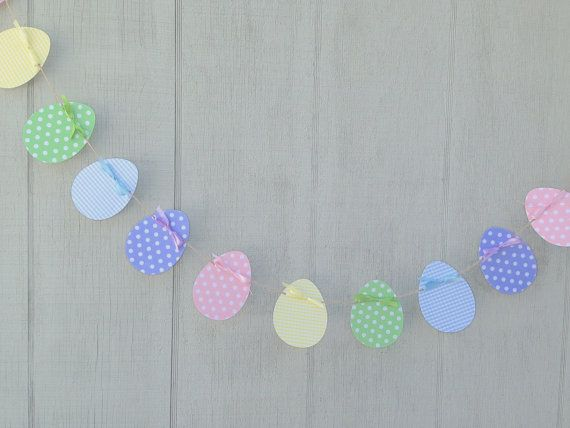 Items Similar To Easter Egg Garland, Easter Garland, Egg Die Cuts, Spring  Decorations,photo Prop On Etsy