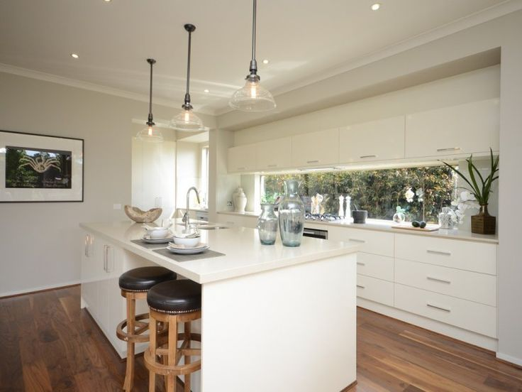 kitchen with window splashback