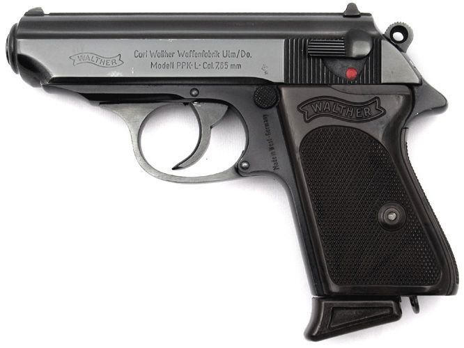 The Walther PPK was the weapon of choice for James Bond from the films Dr. No to Tomorrow Never Dies (except Moonraker and Octopussy) and again in Quantum of Solace and SkyFall. The gun is also mentioned in the Ian Fleming novels from Dr. No to The Man with the Golden Gun. It's the only gun / gadget that is used by all the Bond actors.