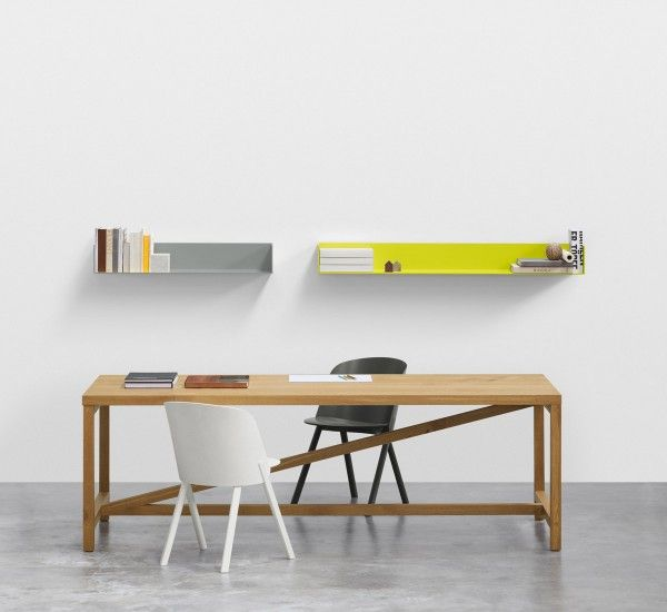 Allows For Diverse Applications In A Work Or Dining Context Table Platz By Joerg Schellmann Featuring Side Chair This By Stefan Shelf Profil In Light Grey