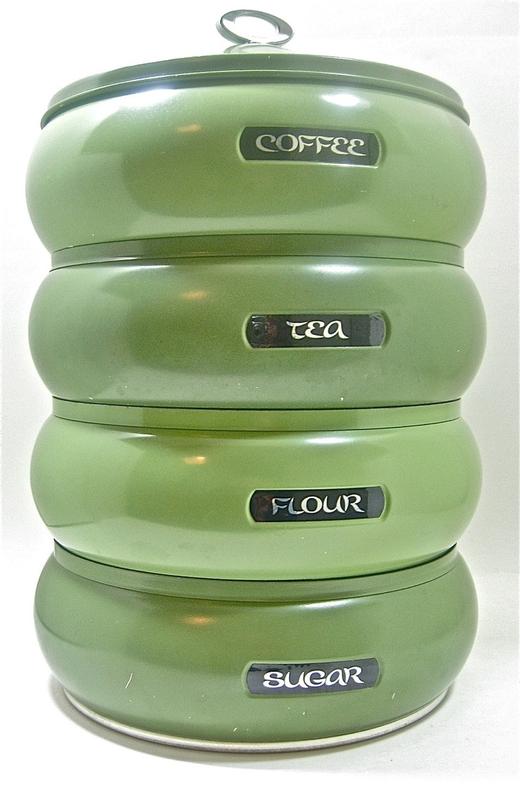 Lime Green Kitchen Canisters 17 Best Images About Canisters On Pinterest Vintage Kitchen Red