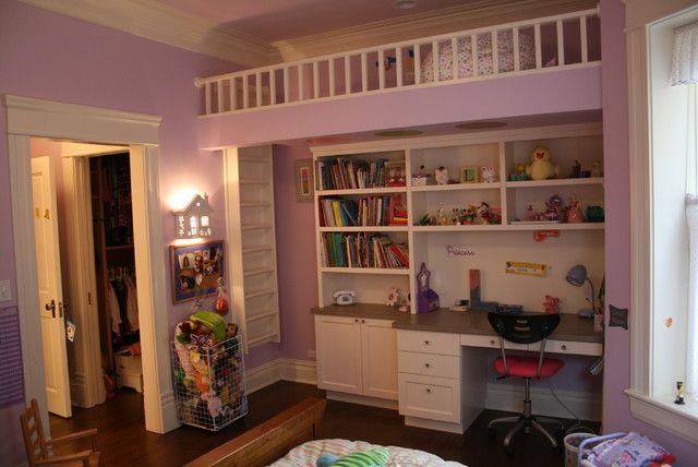 Детская кровать чердак, как способ сэкономить место в детской комнате