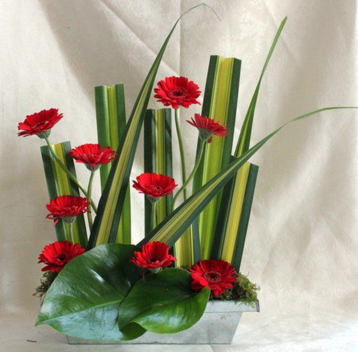 l 39 art floral moderne jolis arrangements de fleurs fra ches deco composition. Black Bedroom Furniture Sets. Home Design Ideas