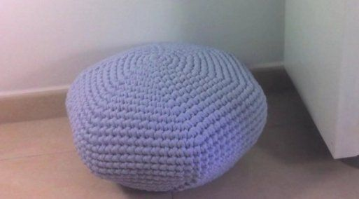 3 puff DIY hechos con materiales reciclados | Aprender manualidades es facilisimo.com