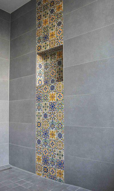 Die besten 25 badezimmerspiegel ideen auf pinterest einfache badezimmer verbesserungen - Mediterrane badezimmer fliesen ...