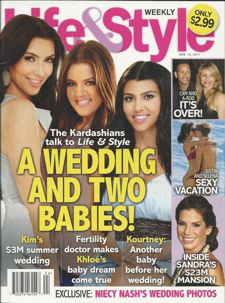 Life and Style magazine The Kardashians Cameron Diaz Justin Bieber Selena Gomez