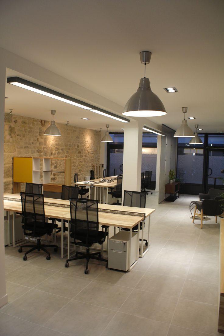 le.nid AI - projet 75_11è - aménagement d'un espace de travail en coworking - vue générale