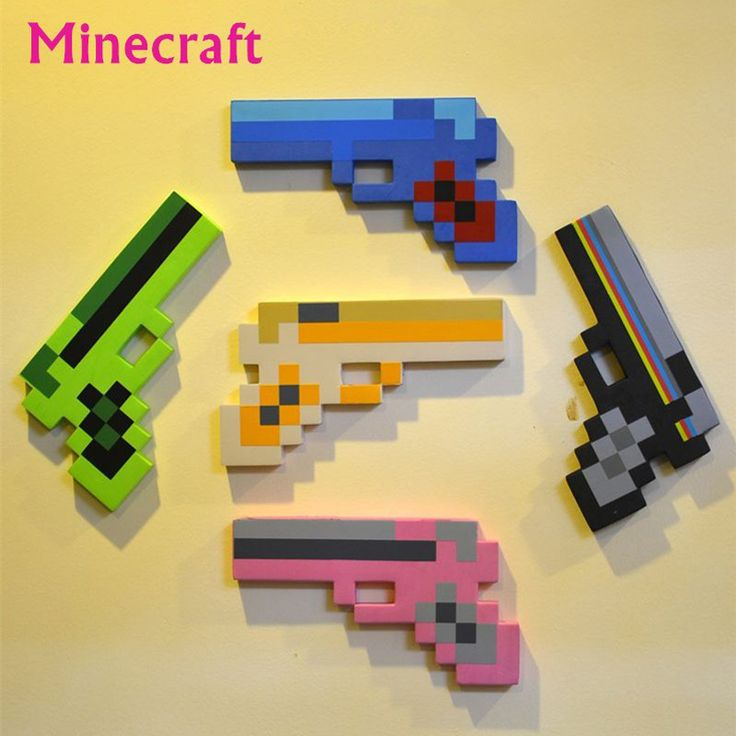 kids toys   50pcs/lot Newest Minecraft Toys Minecraft Gun EVA Foam Props Weapon Outdoor Toy Action Figure Kids Toys juguetes Christmas Gifts