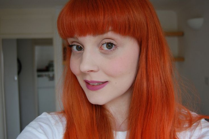 Before and After Photo of La Riche Directions Hair Dye in Tangerine on Blonde Dyed Hair Jayne J Read British Beauty Blogger Jayne's Kitschen London