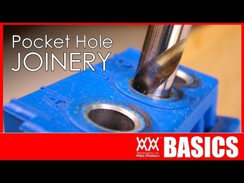 This is a great video! I learned a ton!   Beginner's guide to pocket hole joinery | WWMM BASICS - YouTube