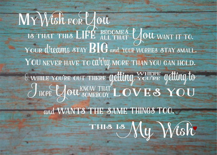 83 Best Children Signs Images On Pinterest Wood Signs. SaveEnlarge · Graduation Gift My Wish For You ... & My Wish For You Wall Art - Elitflat