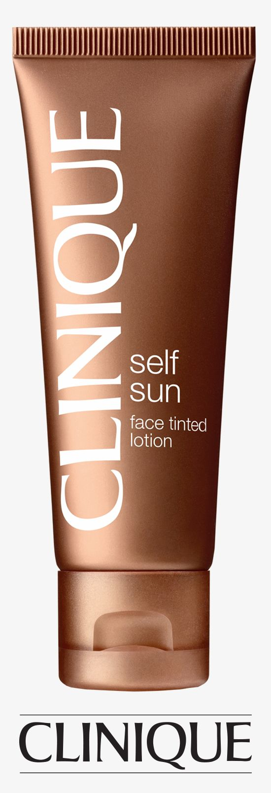 Get instant colour, and a golden 'tan' that develops over time. Looks smooth, even, natural.    #Clinique Self Sun Face Tinted Lotion