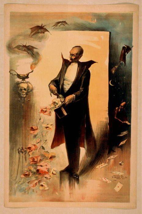 .: Vintage Halloween, Magician Pull, Vintage Magician, Magic Posters, Magician Posters, Pull Rose, Circus Posters, Magician Vintage, Tops Hats