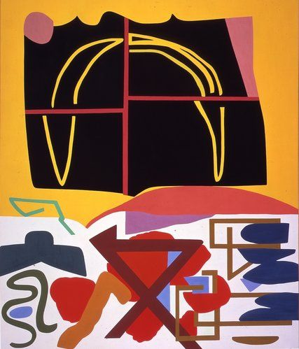"""Shirley Jaffe's """"Four Squares Black"""" (1993). Credit via Tibor de Nagy Gallery, New York. All Rights Reserved, 2016 Artists Rights Society (ARS), New York/ADAGP, Paris Shirley Jaffe, Geometric Artist of Joyful Forms, Dies at 92 - The New York Times"""