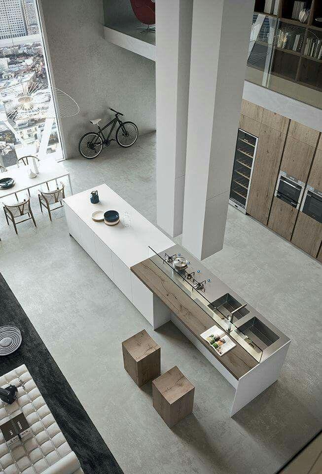 Cocina de doble altura