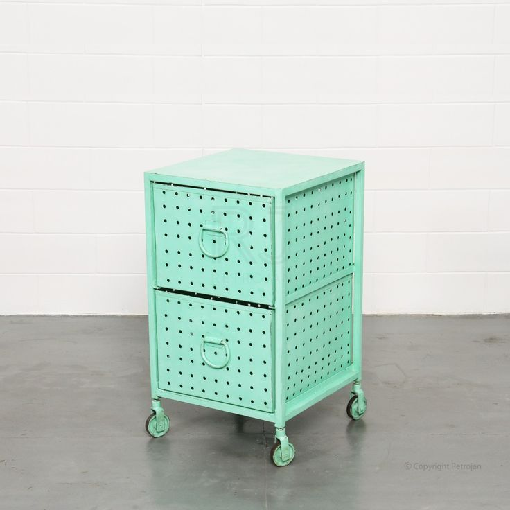 Melanie Industrial Cabinet - Green - Storage