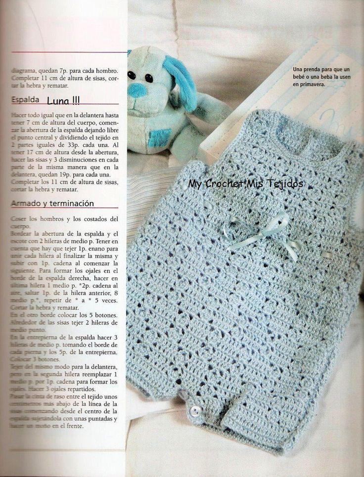 My Crochet , Mis Tejidos: Enterito para Bebe.
