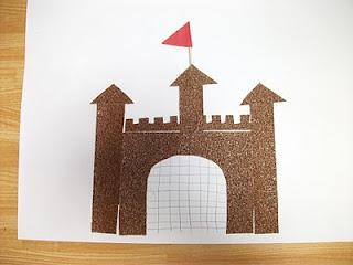 Preschool Crafts for Kids*: Sand Paper Sand Castle Craft