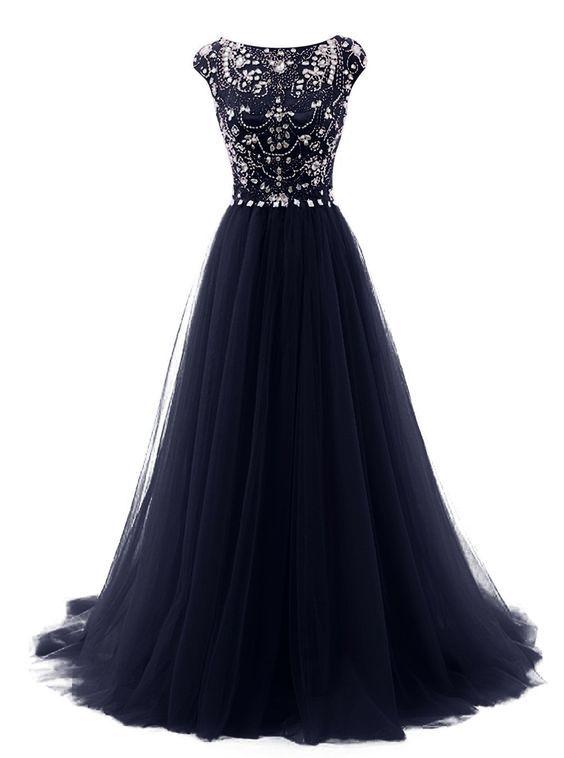 Modest Prom Dress,Beaded Prom Dress,A Line Prom Dress,Fashion Prom Dress,Sexy Party Dress, New Style Evening Dress