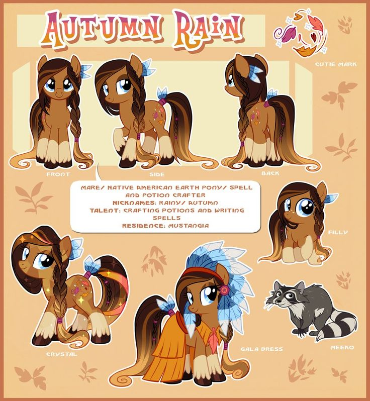 Autumn Rain Reference Guide by Centchi on deviantART