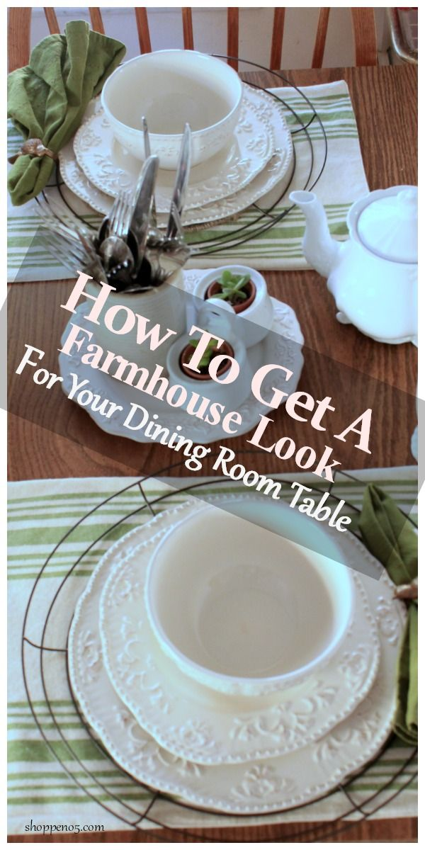 Do you enjoy setting a pretty table? I love all of the different plates, placemats, and chargers, don't you? It is an easy and inexpensive way to change out the look of your dining room or kitchen. My project for you today is how to get a farmhouse look for your dining room table. And it came from the Dollar Store.