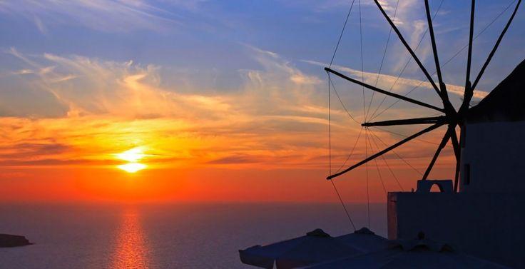 Beautiful Sunset. Greece