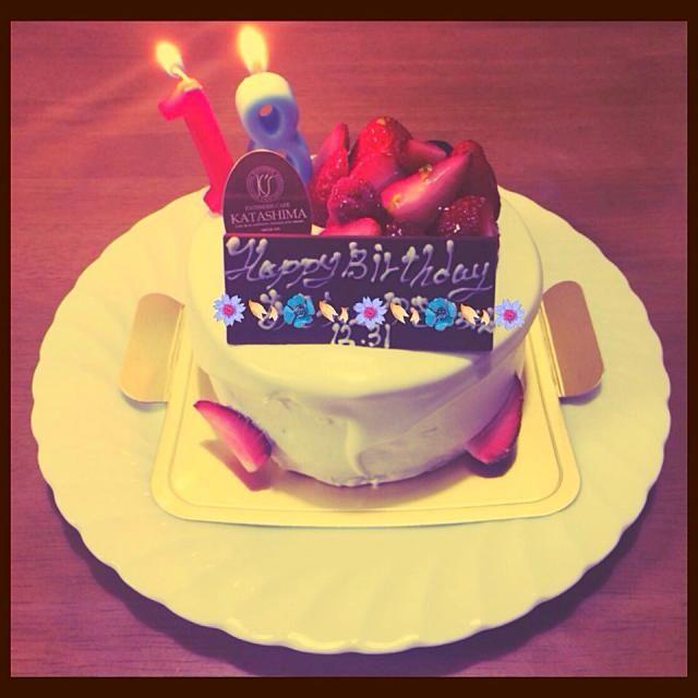 今日は娘と旦那さんの誕生日です 大晦日、同じ日に✨ お誕生日おめでとう - 51件のもぐもぐ - Birthdayケーキ by きたろう