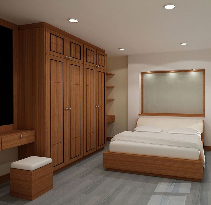 Small Wardrobes For Small Bedrooms: Modern Wooden Wardrobe Designs For Bedroom Picture