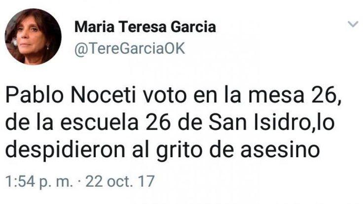 El jefe de Gabinete de la ministra de Seguridad patricia Bullrich, Pablo Noceti, quien coordinó el operativo de Gendarmería tras el cual estuvo desaparecido durante 78 días Santiago Maldonado, fue abucheado al salir de votar - 22.10.2017