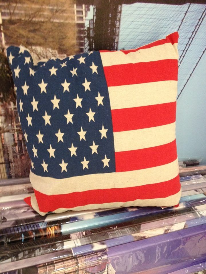 American Flag Eco Jute Cushion! Was $12 Now $9.60 (Offer ends 24th July 2014)